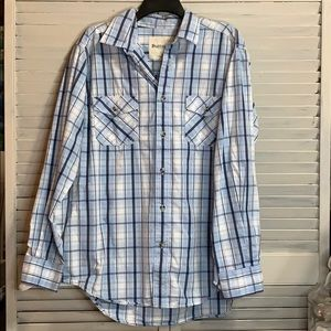 Ruff Hewn Long Sleeve Casual Button Down Size LG